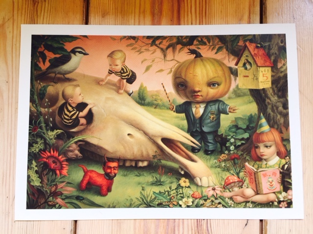 The pumpkin president van Mark Ryden